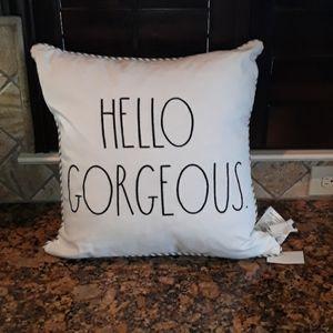 Rae Dunn HELLO GORGEOUS Pillow